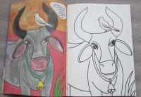 Священная корова: Раскраска для детей