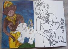 Хануман: Раскраска для детей