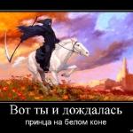 Вот ты и дождалась принца на белом коне