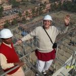 Хари Шаури дас на стройке в Майапуре