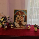 Портрет Шрилы Прабхупады на алтаре