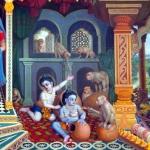 Кришна и Баларама воруют масло и йогурт 1