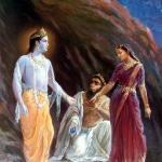 Джамбаван отдаёт свою дочь Джамбавати в жены Кришне