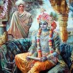 Кришна читает письмо