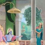 Кришна отчитывает Сатьябхаму