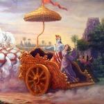 Кришна похищает Рукмини (Муралидхара дас)