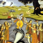 Кришна на танцует на змее Калие 3