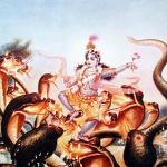Кришна на танцует на змее Калие 5