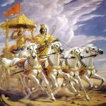 Арджуна и Кришна на колеснице 03-
