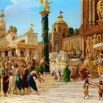 Krishna and Balarama enter in Dwaraka