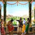 Krishna and Pandavas at Indraprastha