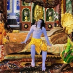 Krishna with Arjuna and Duryodhana