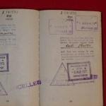 Страница из паспорта Шрилы Прабхупады со штампом о прибытии в СССР 20 Июня 1971 года.