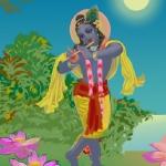Красивый Кришна (худ. Чайтанья Чандра Чаран дас)