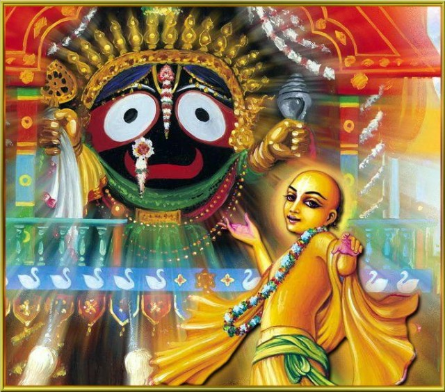 Chaitanya and Jagannatha on Cart