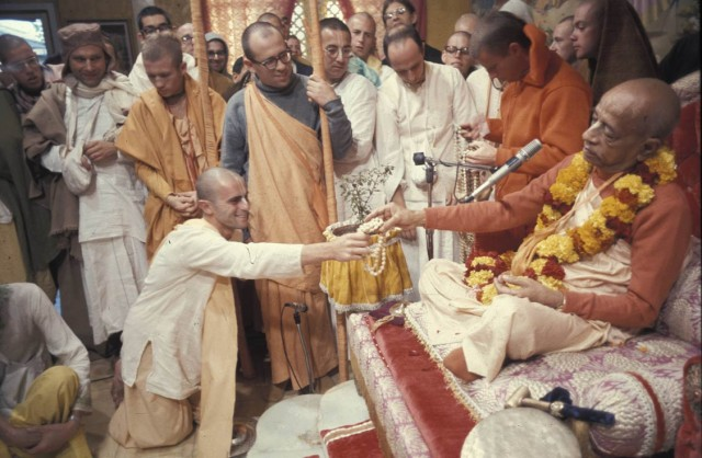 Citraka dasa Taking initiation  Los Angeles 1973