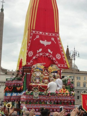 The grand Rathayatra chariot came from Milan
