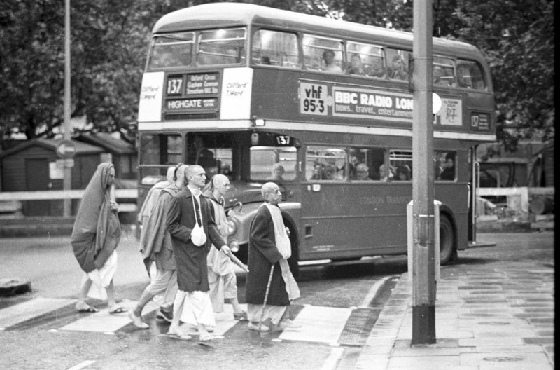 Srila Prabhupada Walking in London